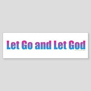 Let Go Bumper Sticker