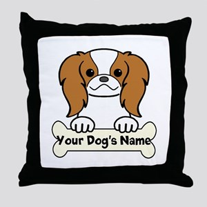 Personalized Japanese Chin Throw Pillow