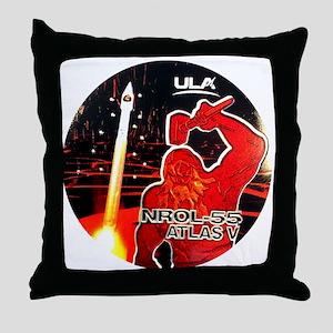 NROL-55 Launch Throw Pillow