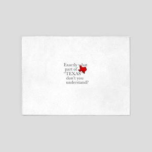 TexasRedSmallTexBask 5'x7'Area Rug