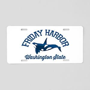 Friday Harbor. Aluminum License Plate