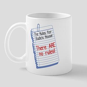 No Rules at Zadie's House Mug