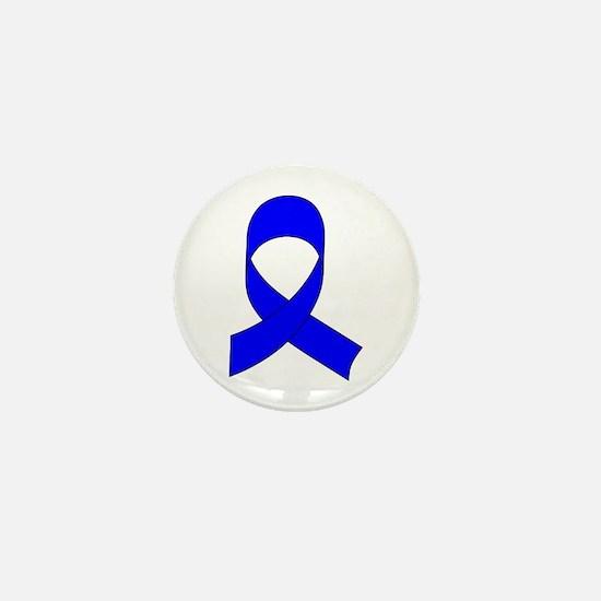 Blue Awareness Ribbon Mini Button