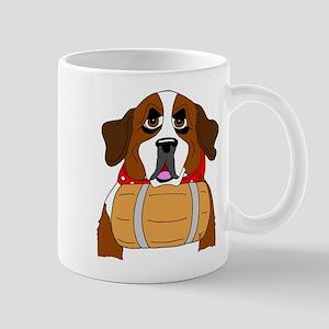 Saint Bernard With Keg Mug