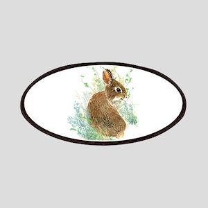 Cute Watercolor Bunny Rabbit Pet Animal Patch