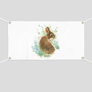 Cute Watercolor Bunny Rabbit Pet Animal Banner