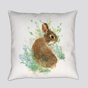 Cute Watercolor Bunny Rabbit Pet A Everyday Pillow