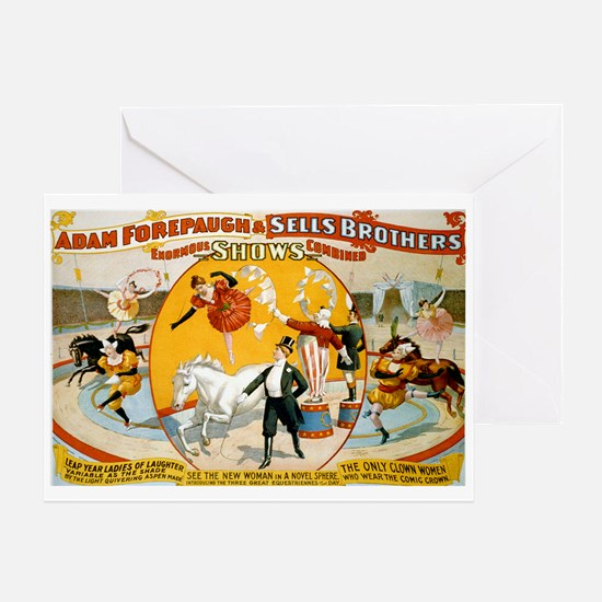 Enormous Shows Combined Greeting Card