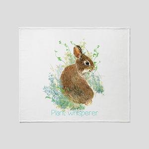 Plant Whisperer Fun Gardening Quote Throw Blanket