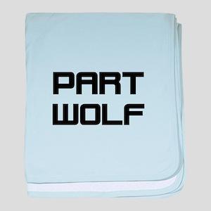 Part Wolf baby blanket