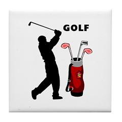 Golf Swing Tile Coaster