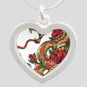 Decorated Cobra Snake with Roses Necklaces