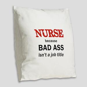BAD ASS Burlap Throw Pillow