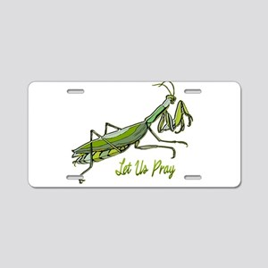 Green Preying Mantis Let Us Aluminum License Plate