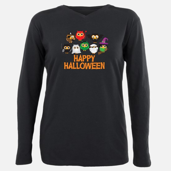 Cute Halloween pirate Plus Size Long Sleeve Tee