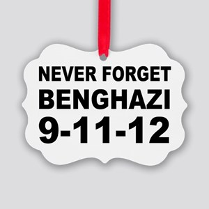 Benghazi Never Forget Picture Ornament