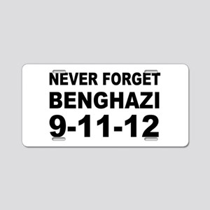Benghazi Never Forget Aluminum License Plate