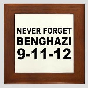 Benghazi Never Forget Framed Tile