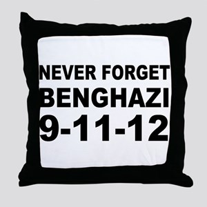 Benghazi Never Forget Throw Pillow