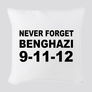 Benghazi Never Forget Woven Throw Pillow