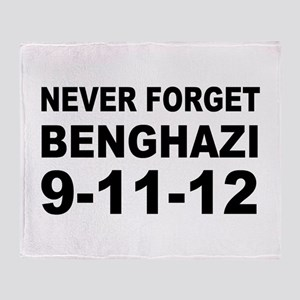 Benghazi Never Forget Throw Blanket