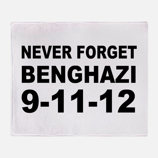 Benghazi Never Forget Throw Blanket