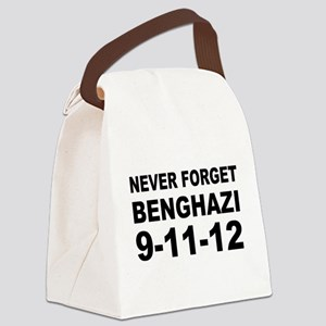 Benghazi Never Forget Canvas Lunch Bag