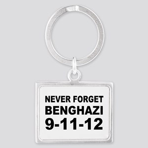 Benghazi Never Forget Landscape Keychain