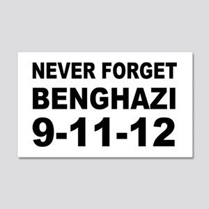 Benghazi Never Forget 20x12 Wall Decal