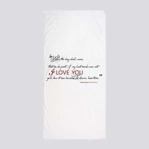 Last Words Outlander Beach Towel