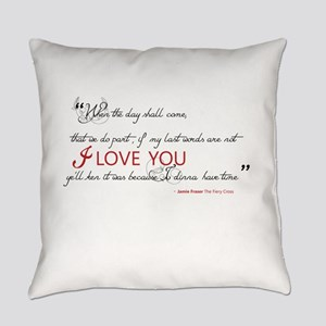 Last Words Outlander Everyday Pillow