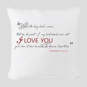 Last Words Outlander Woven Throw Pillow