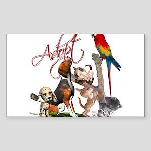 Adopt a Pet Rectangle Sticker 10 pk) Sticker