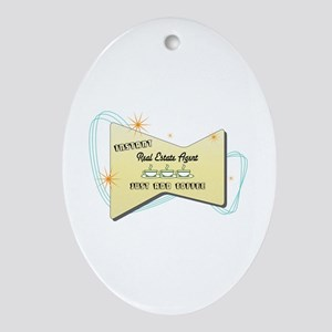 Instant Real Estate Agent Oval Ornament