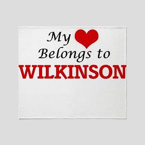 My Heart belongs to Wilkinson Throw Blanket