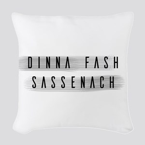 Dinna Fash Sassenach Woven Throw Pillow