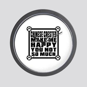 Chinese Crested Dog Make Me Happy Wall Clock