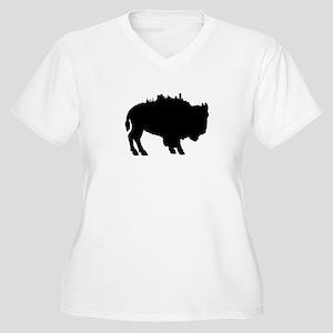 Buffalo Skyline Women's Plus Size V-Neck T-Shirt