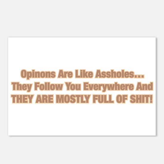 Opinions Are Like Asshole Postcards (Package of 8)