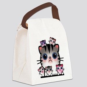 Cat Family Canvas Lunch Bag