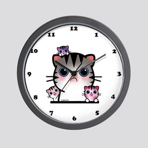 Cat Family Wall Clock