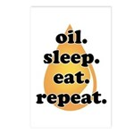 oil.sleep.eat.repeat Postcards (Package of 8)