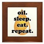 oil.sleep.eat.repeat Framed Tile