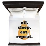 oil.sleep.eat.repeat King Duvet