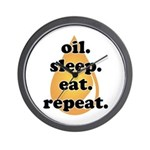 oil.sleep.eat.repeat Wall Clock