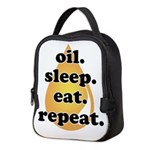 oil.sleep.eat.repeat Neoprene Lunch Bag
