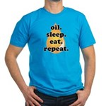oil.sleep.eat.repeat Men's Fitted T-Shirt (dark)