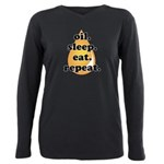oil.sleep.eat.repeat Plus Size Long Sleeve Tee