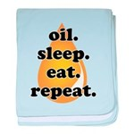 oil.sleep.eat.repeat baby blanket