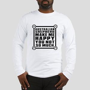Australian Shepherd Dog Make M Long Sleeve T-Shirt